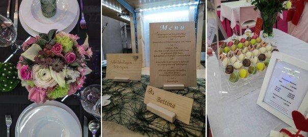 Der Messestand von Laserbeschriftung Finn bei den Hochzeitstagen München.