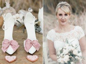 Lasst euch für eure Vintage-Hochzeit inspirieren - mit diesem styled shoot mit Candybar, Brautstrauß und Spitzenkleid!