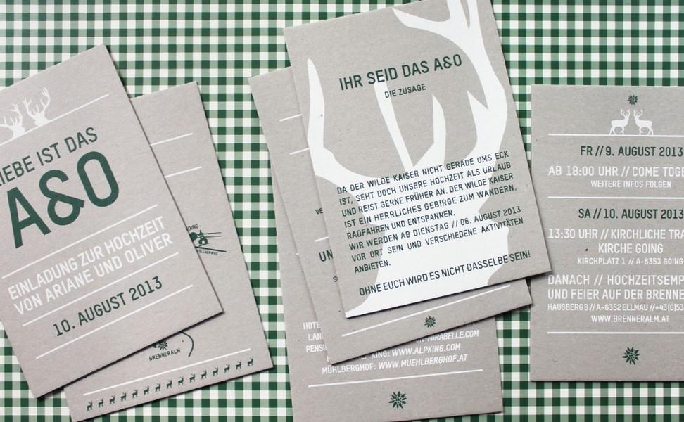 moderne hochzeitspapeterie von sususumm aus münchen, Einladungsentwurf