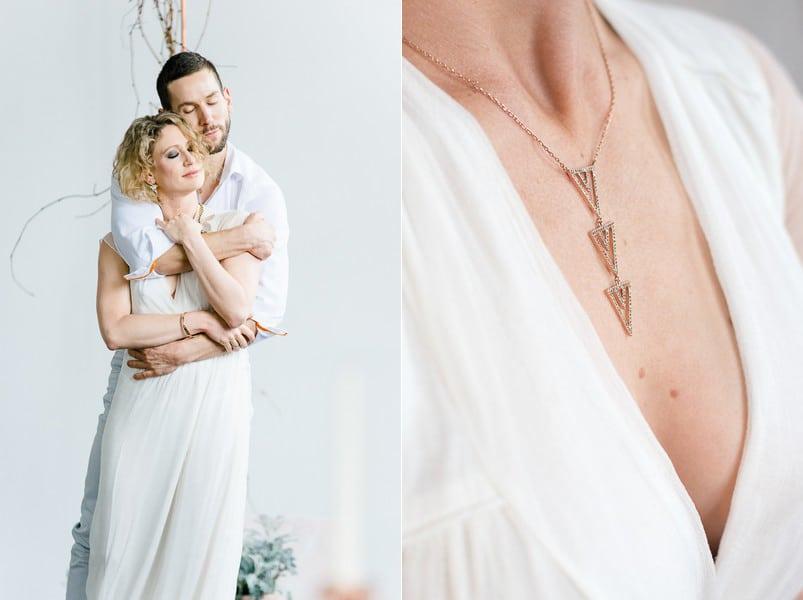 Moderner Brautschmuck mit geometrischen Motiven