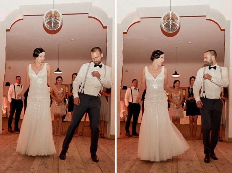 Eröffnungstanz Charleston bei einer 20er Jahre Hochzeit