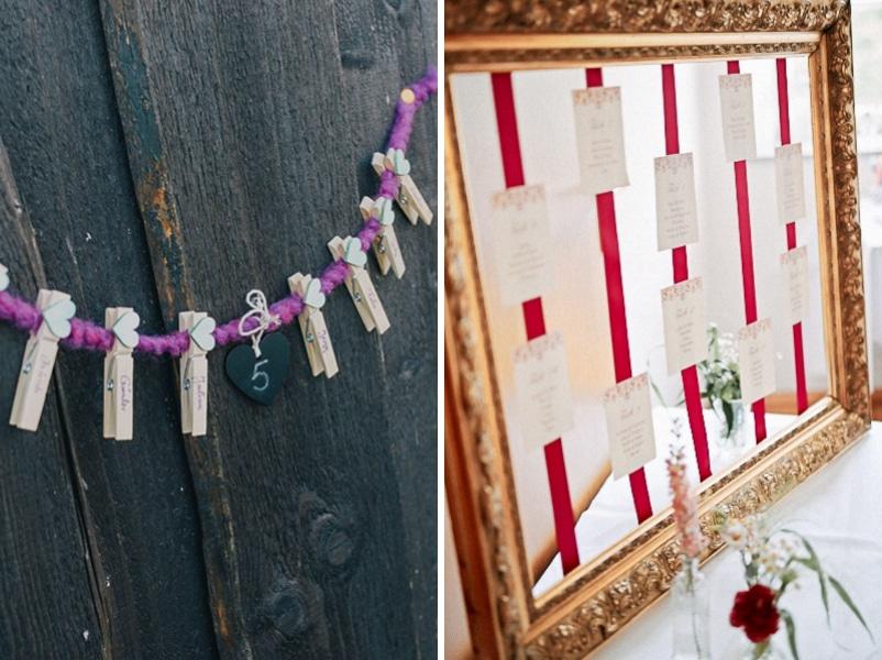 7 Ideen für Tischpläne und Sitzpläne bei Hochzeiten