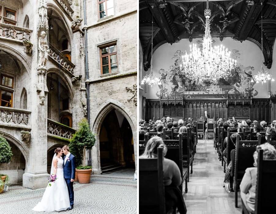 Trauung im Neuen Rathaus München - heiraten wie im Märchen