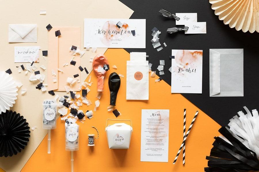 studio colada: hochzeitseinladungen, papeterie und passende deko, Einladungsentwurf