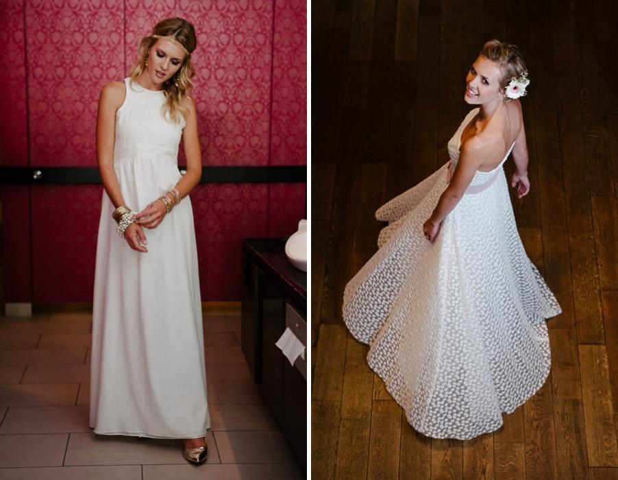 Brautkleider Aenne und Schneeweißchen von Küssdiebraut