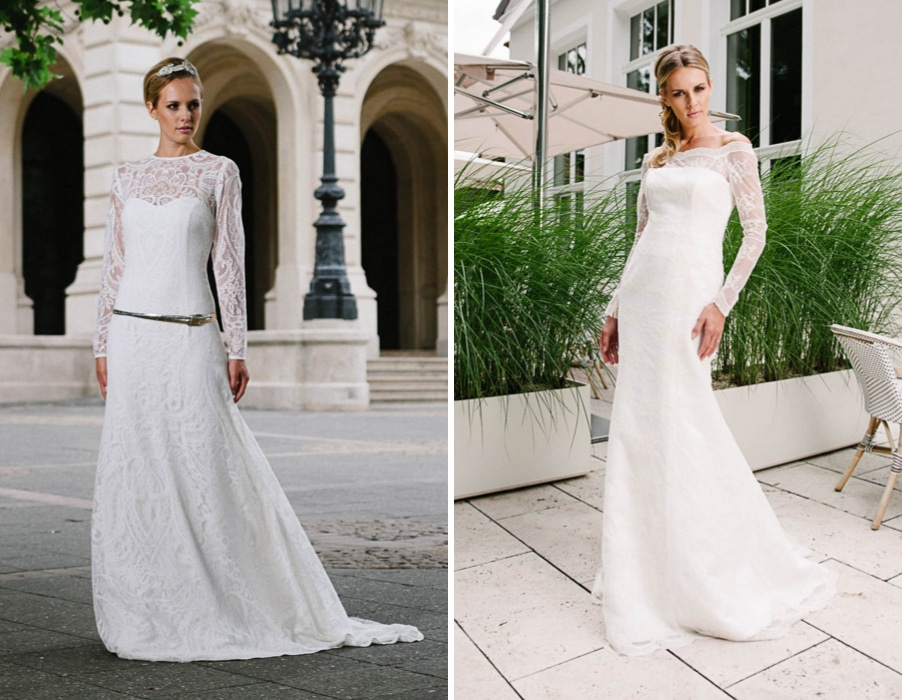 Brautkleider Valentina und Susette von Küssdiebraut