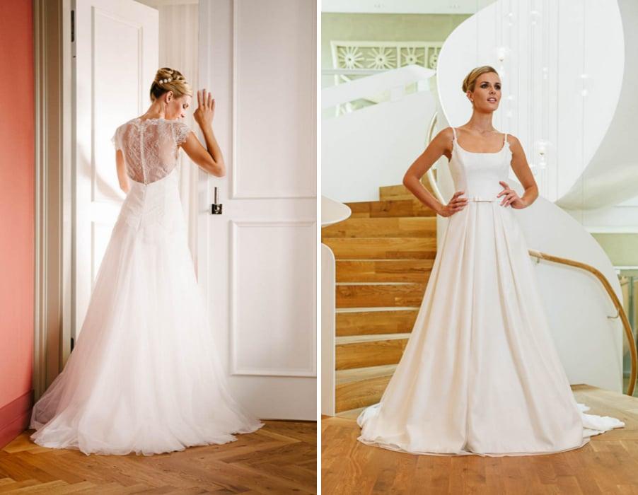 Brautkleider Wanda und Peppina von Küssdiebraut