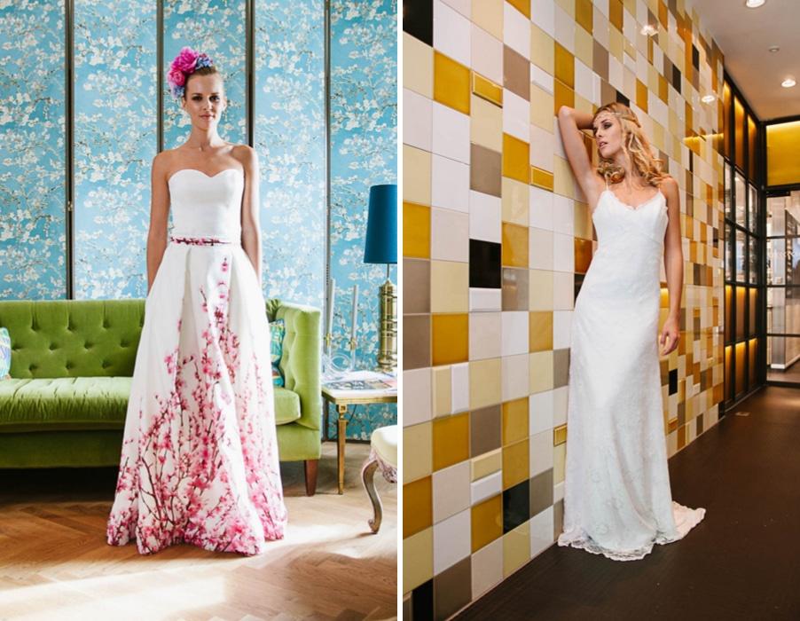 Brautkleider Yoki und Colette von Küssdiebraut