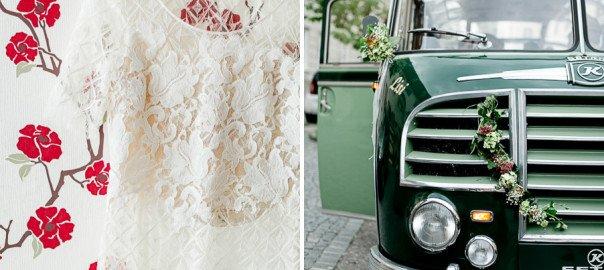 Echte Hochzeit mit Oldtimer-Bus